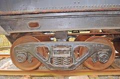 Early Trucks On Vintage, Rail Car stock photos