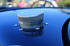 Early twentieth century french sports car fuel cap Stock Photography