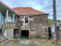 Early twentieth century house in Ourense Galicia Spain. Early twentieth century house in Ourense Galicia Spain during a cloudy day royalty free stock images