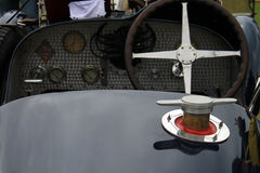 Early twentieth century french sports car gas cap Royalty Free Stock Image