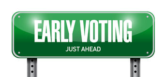 early voting road sign illustration design Royalty Free Stock Photography