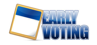 early voting sign and calendar illustration design Royalty Free Stock Images