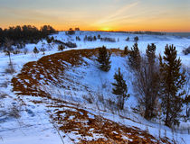 Early winter dawn Stock Photo