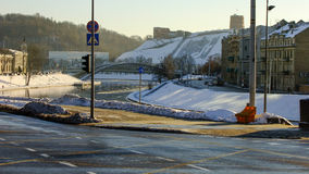 Early Winter Morning in Vilnius CIty Stock Photo