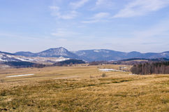 Early winter in Sudetes mountains - Poland Royalty Free Stock Photos
