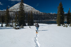 Early winter in Uinta Mountains - Long Lake Stock Photos