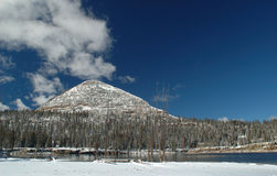 Early winter in Uinta Mountains - Long Lake Stock Images