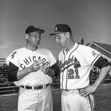 Early Wynn and Warren Spahn. Stock Images