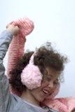 earmuff dziewczyny menchii szalik Zdjęcie Royalty Free