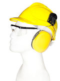 Earmuff, eyewear, helmet Stock Photo