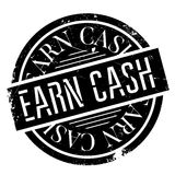 Earn Cash rubber stamp Stock Image