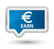 Earn (euro sign) prime blue banner button. Earn (euro sign) isolated on prime blue banner button abstract illustration Royalty Free Stock Photo