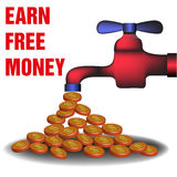 Earn free money Stock Photos