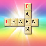 Earn while learning. Concept- in a colorful dackground stock illustration