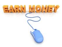Earn Money. Online. 3D rendered Illustration stock illustration