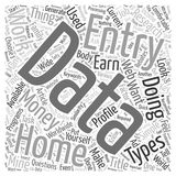 Earn Money Doing Simple Data Entry World Wide word cloud concept word cloud concept vector background Stock Photography