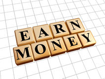 Earn money in golden cubes Stock Images