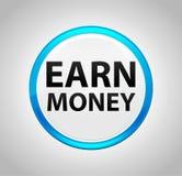Earn Money Round Blue Push Button stock illustration