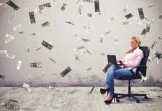 Earn money working Stock Image