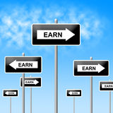 Earn Sign Represents Salaries Wages And Earns Royalty Free Stock Photography