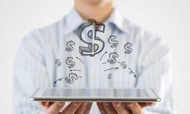 Earn your money online Stock Photo