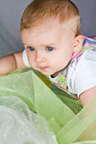 Earnest baby face Royalty Free Stock Photography