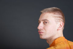 Earnest young adult man Royalty Free Stock Photography