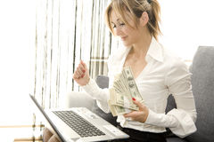 Earning with comfort Stock Image