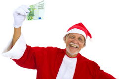 Earning Euros in Christmas Royalty Free Stock Photography