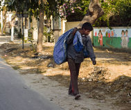 Earning From Garbage. In India millions of person , families are employed as rag pickers , working all day and night in worst unhygienic conditions , picking up Royalty Free Stock Photos