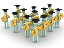 Earning graduates Stock Photography