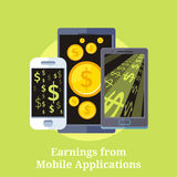 Earning from Mobile Applications Royalty Free Stock Image