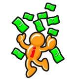 Earning money. Illustration of abstract businessman earning money Stock Image