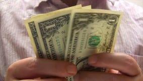 Earning Money stock video footage