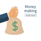 Earning money concept. Royalty Free Stock Images
