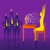 Earning money through e-business design. On-line earning money through e-business concept Stock Photo