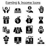 Earning , Money , income icon set. Vector illustration graphic design Stock Photos