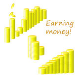 Earning money! Stock Photos