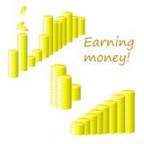 Earning money!. Vector illustration.Isolated vector illustration