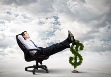 Earning money Stock Photo