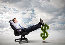 Earning money Stock Images