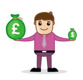 Earning - Office and Business People Cartoon Character Vector Illustration Concept Stock Images