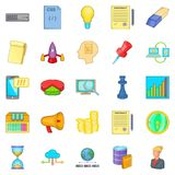 Earning online icons set, cartoon style. Earning online icons set. Cartoon set of 25 earning online vector icons for web isolated on white background Royalty Free Stock Images
