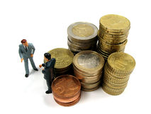 Earning some money. Businessmen just trying to make a living Royalty Free Stock Photo