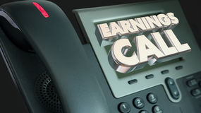 Earnings Call Financial Results Telephone. 3d Illustration Stock Photography
