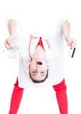 Earnings concept with joyful woman medic Royalty Free Stock Photography