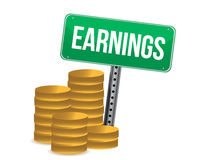 Earnings illustration design Stock Photos