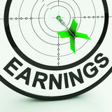 Earnings Shows Money From Employment Profit Income Royalty Free Stock Photo