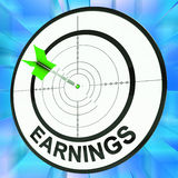 Earnings Shows Vocation, Occupation, Employment And Profession Royalty Free Stock Photo