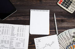 Earnings from trading on the stock exchange Stock Photography